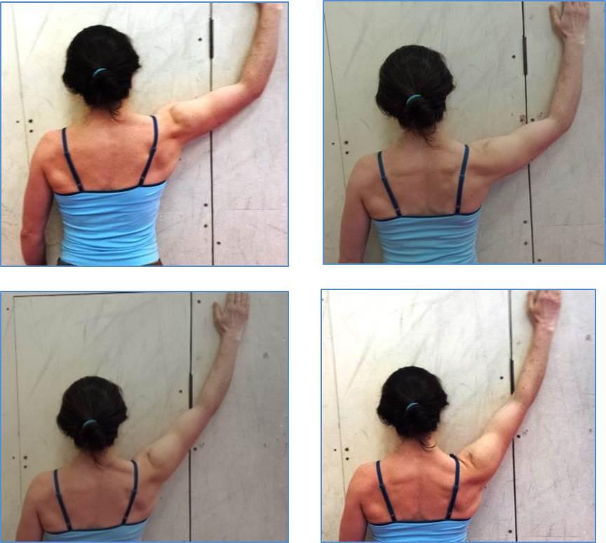 Shoulder Retraction: Wall