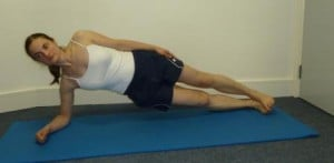 side plank for obliques and hip abductors, core exercise, lateral stability exercise